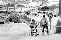 - NATO exercises AMF (Allied Mobil Force) in Norway, february 1986; Italian Alpine of the Taurinense brigade guarding a bridge<br /> <br /> - Esercitazioni NATO AMF (Allied Mobil Force) in Norvegia, febbraio 1986; Alpino italiano della della brigata Taurinense di guardia ad un ponte