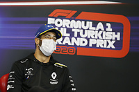 12th November 2020; Istanbul Park, Istanbul, Turkey;   FIA Formula One World Championship 2020, Grand Prix of Turkey, 3 Daniel Ricciardo AUS, Renault DP World F1 Team pre race press conference