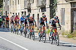 The main GC contenders led by Bahrain Victorious during Stage 20 of La Vuelta d'Espana 2021, running 202.2km from Sanxenxo to Mos, Spain. 4th September 2021.    <br /> Picture: Cxcling | Cyclefile<br /> <br /> All photos usage must carry mandatory copyright credit (© Cyclefile | Cxcling)