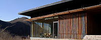 The Bamboo Wall House, by architect Kengo Kuma, was completed in 2002 as part of the multi-dwelling project Commune by the Great Wall near Beijing, conceived by developers Zhang Xin and Pan Shiyi. Requirements were to use local materials.