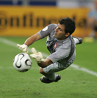 Portuguese goalkeeper  (1) Ricardo makes a save during penalty kicks.  Portugal defeated England on penalty kicks after playing to a 0-0 tie in regulation in their FIFA World Cup quarterfinal match at FIFA World Cup Stadium in Gelsenkirchen, Germany, July 1, 2006.