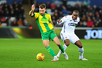 James Morrison of West Bromwich Albion battles with Leroy Fer of Swansea City during the Sky Bet Championship match between Swansea City and West Bromwich Albion at the Liberty Stadium in Swansea, Wales, UK. Wednesday 28 November 2018