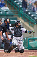 Kane County Cougars catcher Jose Herrera (8) during a Midwest League game against the Fort Wayne TinCaps at Parkview Field on May 1, 2019 in Fort Wayne, Indiana. Fort Wayne defeated Kane County 10-4. (Zachary Lucy/Four Seam Images)