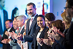 "Patricia Gonzalez and  Spanish king Felipe attends XXXIV International prizes of journalism ""Rey de Espana"" and the XIII edition of the prize ""Don Quijote"" of journalism in Madrid, Spain. March 27, 2017. (ALTERPHOTOS / Rodrigo Jimenez)"