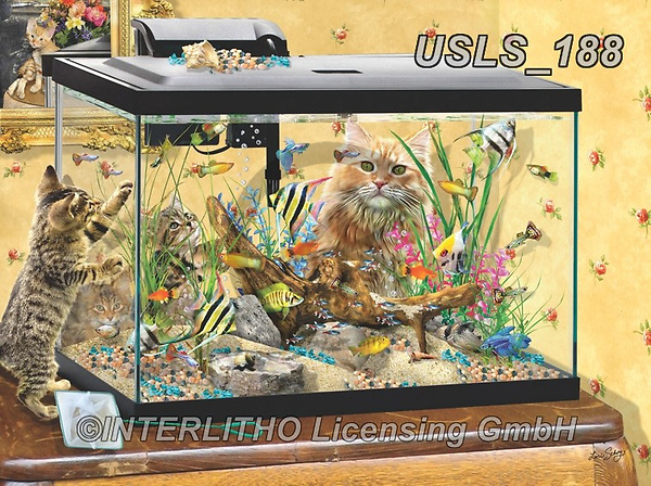 Lori, REALISTIC ANIMALS, REALISTISCHE TIERE, ANIMALES REALISTICOS, zeich, paintings+++++Fish Tank_11_12in_Sunsout_2020_72,USLS188,#a#, EVERYDAY ,puzzle,puzzles