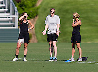 Christie Rampone, Cindy Parlow, Heather Mitts. The USWNT practice at WakeMed Soccer Park in preparation for their game with Japan.