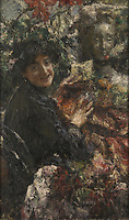 Full title: Aurelia<br /> Artist: Antonio Mancini<br /> Date made: about 1906<br /> Source: http://www.nationalgalleryimages.co.uk/<br /> Contact: picture.library@nationalgallery.co.uk<br /> <br /> Copyright © The National Gallery, London