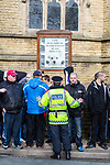© Joel Goodman - 07973 332324 . 03/03/2012 . Heywood , UK . The National Front hold a rally in protest against an alleged paedophile ring that had been operating in the area . There is currently (3rd March 2012) a case being tried at Liverpool Crown Court in relation to the allegations . Last Thursday (23rd February 2012) a protest organised in the town in relation to the same story resulted in Asian business being attacked by an angry mob . Photo credit : Joel Goodman