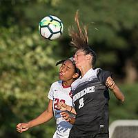 Allston, Massachusetts - August 25, 2017: NCAA Division I. Harvard University (white) defeated Providence College (black), 1-0, at Ohiri Field.