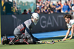 GER - Mannheim, Germany, May 27: During the men semi-final match between Uhlenhorst Muehlheim and Mannheimer HC at the Final4 tournament May 27, 2017 at Am Neckarkanal in Mannheim, Germany. (Photo by Dirk Markgraf / www.265-images.com) *** Local caption *** Lukas Stumpf #4 of Mannheimer HC