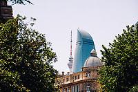 3rd June 2021; Baku, Azerbaijan;  A landscape view during the Formula 1 Azerbaijan Grand Prix 2021 at the Baku City Circuit, in Baku, Azerbaijan