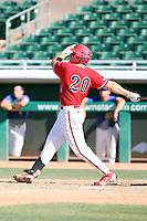 Bobby Coyle, Fresno State Bulldogs, playing against Hawaii in the championship game of the Western Athletic Conference tournament at Hohokam Park, Mesa, AZ - 05/30/2010. Hawaii won, 9-6, to capture its first league championship in 18 years..Photo by:  Bill Mitchell/Four Seam Images.