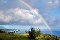 Rainbow at Kilauea Point, Kauai, Hawaii.