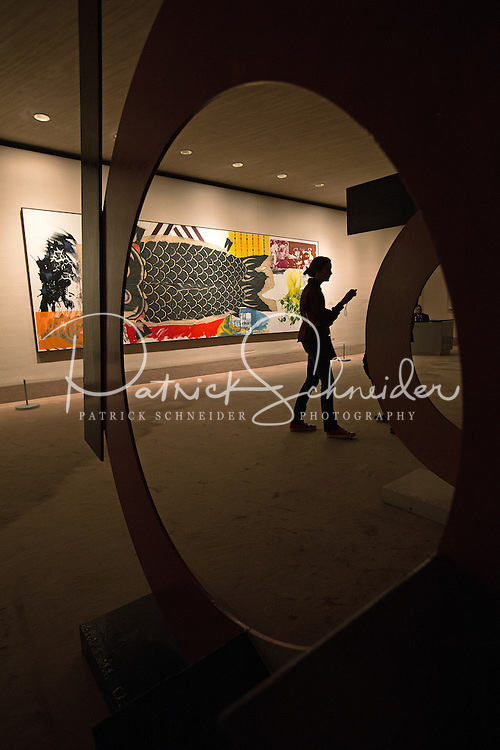A student explores one of the many museums during a class trip to Washington DC.