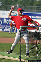 July 2, 2003:  Pete Whisler of the Jamestown Jammers during a game at Dwyer Stadium in Batavia, New York.  Photo by:  Mike Janes/Four Seam Images