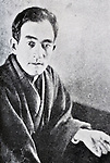 """Circa 1925, Japan - Naoya Shiga (1883 - 1971) was a Japanese novelist and short story writer active during the Taisho and Showa periods of Japan. He contributed the story """"Abashirimade"""" to the first issue of the literary magazine Shirakaba (White Birch) in 1910. His major work, """"An'ya Koro"""" (A Dark Night's Passing) was serialized in the radical socialist magazine Kaizo between 1921 to 1937. (Photo by Kingendai Photo Library/AFLO)"""