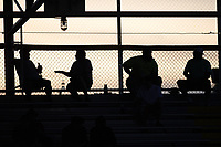 Fans sit at the top of the stands at Burlington Athletic Park  during the Appalachian League game between the Bluefield Ridge Runners and the Burlington Sock Puppets on June 8, 2021 in Burlington, North Carolina. (Brian Westerholt/Four Seam Images)