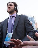 John MacLeod (BU - 16) - The teams walked the red carpet through the Fan Fest outside TD Garden prior to the Frozen Four final on Saturday, April 11, 2015, in Boston, Massachusetts.