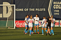 Portland, OR - Sunday March 11, 2018: Chicago Red Stars celebrate Arin Gilliland's goal during a National Women's Soccer League (NWSL) pre season match between the Portland Thorns FC and the Chicago Red Stars at Merlo Field.