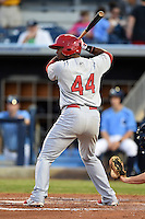 Palm Beach Cardinals outfielder Anthony Garcia (44) during a game against the Charlotte Stone Crabs on April 12, 2014 at Charlotte Sports Park in Port Charlotte, Florida.  Palm Beach defeated Charlotte 6-2.  (Mike Janes/Four Seam Images)