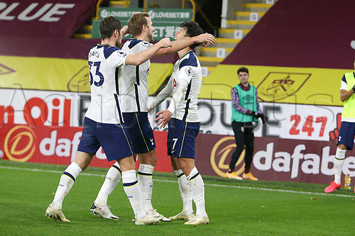 26th October 2020, Turf Moor, Burnley UK; EPL Premier League football, Burnley v Tottenham Hotspur; Goal celebration for 0-1 by Tottenham Hotspur forward Son Heung-Min (7)  scoring the winning goal