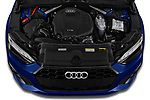 Car Stock 2021 Audi A5-Coupe S-Line 2 Door Coupe Engine  high angle detail view