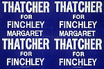 Margaret Thatcher Finchley North London election poster. 1983