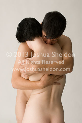 Nude couple embracing<br />