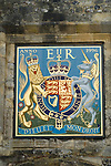 Coat of Arms above St Swithuns Gate Winchester Cathedral grounds. hampshire England 2009.