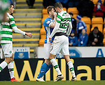 St Johnstone v Celtic…05.02.17     SPFL    McDiarmid Park<br />Liam Craig and Nir Bitton square up to each other<br />Picture by Graeme Hart.<br />Copyright Perthshire Picture Agency<br />Tel: 01738 623350  Mobile: 07990 594431