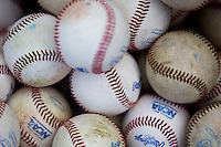 NCAA baseballs on June 24, 2013 at TD Ameritrade Park in Omaha, Nebraska. (Andrew Woolley/Four Seam Images)