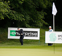 3rd July 2021; Mount Juliet Golf Club, Kilkenny, Ireland; Dubai Duty Free Irish Open Golf, Day Three; Rory Mcilroy of Northern Ireland chips his second shot from the rough onto the 3rd green