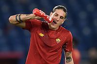 Nicolo Zaniolo of AS Roma during the Serie A football match between AS Roma and US Sassuolo at Olimpico stadium in Rome (Italy), September 12th, 2021. Photo Antonietta Baldassarre / Insidefoto
