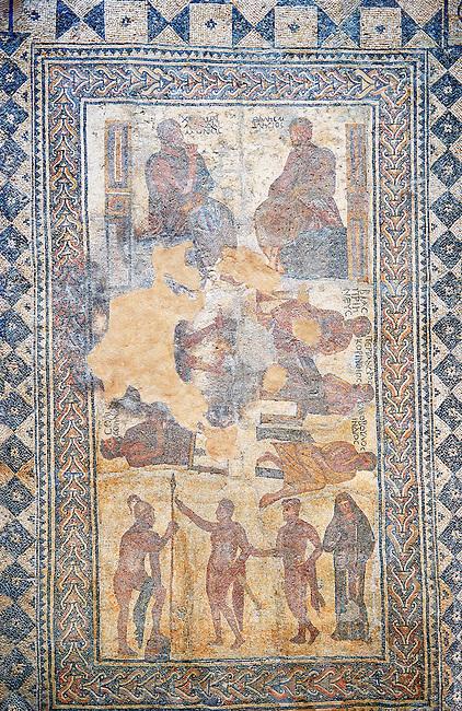 4th century Roman moisaic from Merida, Merida Archaeological Museum, Spain