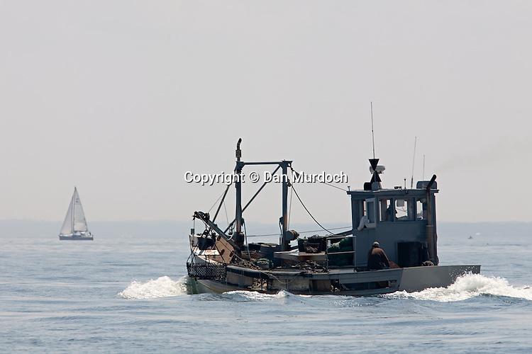 Oyster dredge underway