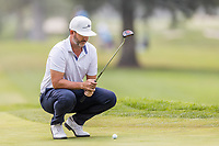 11th September 2020, Napa, California, USA;  Scott Piercy of the United States considers his putt during the second round of the Safeway Open PGA tournament on September 11, 2020 at Silverado Country Club in Napa, CA.