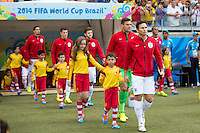 Frank Lampard of England leads his team out