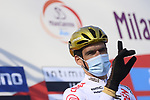 Olympic Champion Greg Van Avermaet (BEL) AG2R Citroen Team at sign on before the start of the 112th edition of Milan-San Remo 2021, running 299km from Milan to San Remo, Italy. 20th March 2021. <br /> Photo: LaPresse/Fabio Ferrari   Cyclefile<br /> <br /> All photos usage must carry mandatory copyright credit (© Cyclefile   LaPresse/Fabio Ferrari)