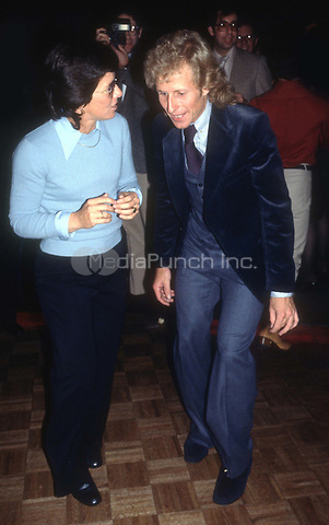Billie Jean King and Vitas Gerulaitis 1978<br /> at Studio54<br /> Photo By Adam Scull/PHOTOlink.net /MediaPunch