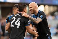San Jose, CA - Saturday April 06, 2019: Major League Soccer (MLS) match between the San Jose Earthquakes and the Portland Timbers  at Avaya Stadium.