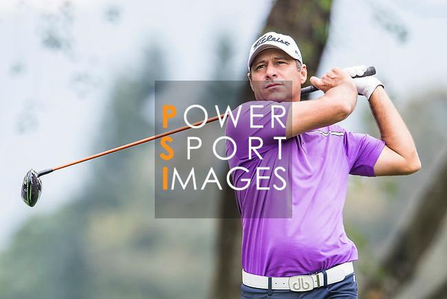 Terry Pilkadaris of Australia hits a shot during the day three of UBS Hong Kong Open 2017 at the Hong Kong Golf Club on 25 November 2017, in Hong Kong, Hong Kong. Photo by Marcio Rodrigo Machado / Power Sport Images