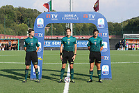 4th September 2021; Agostino di Bartolomei Stadium, Rome, Italy; Serie A womens championship football, AS Roma versus Napoli ; referee Ermes Cavaliere with assistants