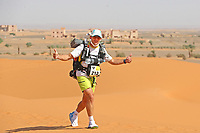 4th October 2021; Tisserdimine to Kourci Dial Zaid;  Marathon des Sables, stage 2 of  a six-day, 251 km ultramarathon, which is approximately the distance of six regular marathons. The longest single stage is 91 km long. This multiday race is held every year in southern Morocco, in the Sahara Desert. Gregory Herlez (FRA)