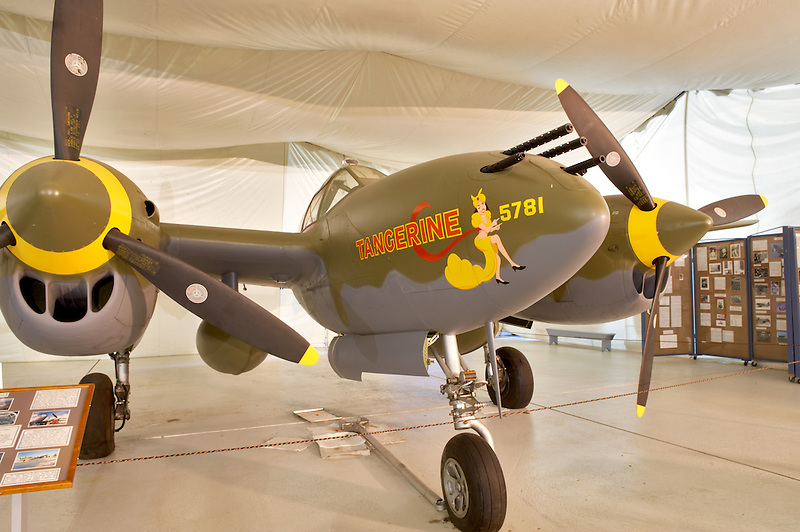 Lockheed P-38 Lightning. Tillamook Air Museum