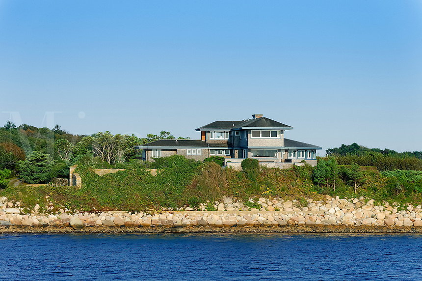 Waterfront beach house on Nantucket Sound, Cape Cod, Massachusetts, USA