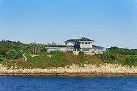 Waterfront beach house on Nantucket Sound, Cape Cod, Massachusetts, USA