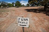 The road to Juba, in Tali Payam 175 km north of Juba. Central Equatoria, South Sudan.