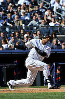 Apr 03, 2011; Bronx, NY, USA; New York Yankees infielder Robinson Cano (24) during game against the Detroit Tigers at Yankee Stadium. Tigers defeated the Yankees 10-7. Mandatory Credit: Tomasso De Rosa