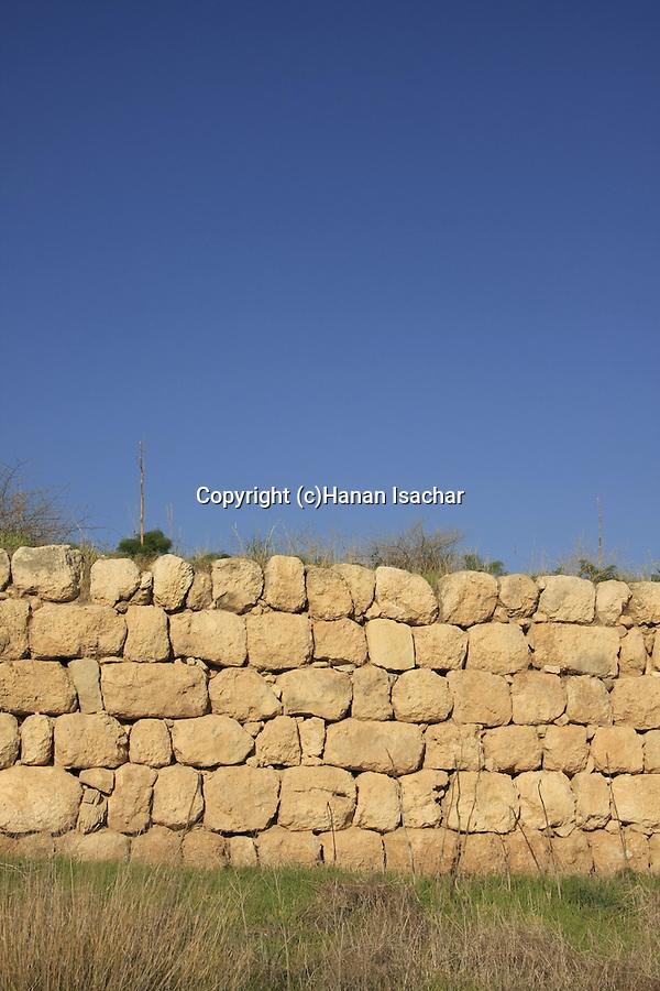 Israel, Shephelah, the city wall at Tel Lachish