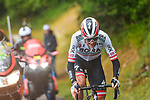 Austrian Champion Patrick Konrad (AUT) Bora-Hansgrohe out front from the breakaway during Stage 16 of the 2021 Tour de France, running 169km from Pas de la Case to Saint-Gaudens, France. 13th July 2021.  <br /> Picture: A.S.O./Charly Lopez   Cyclefile<br /> <br /> All photos usage must carry mandatory copyright credit (© Cyclefile   A.S.O./Charly Lopez)